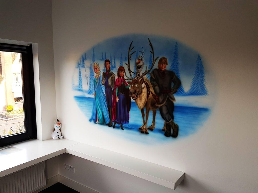Frozen muurschildering