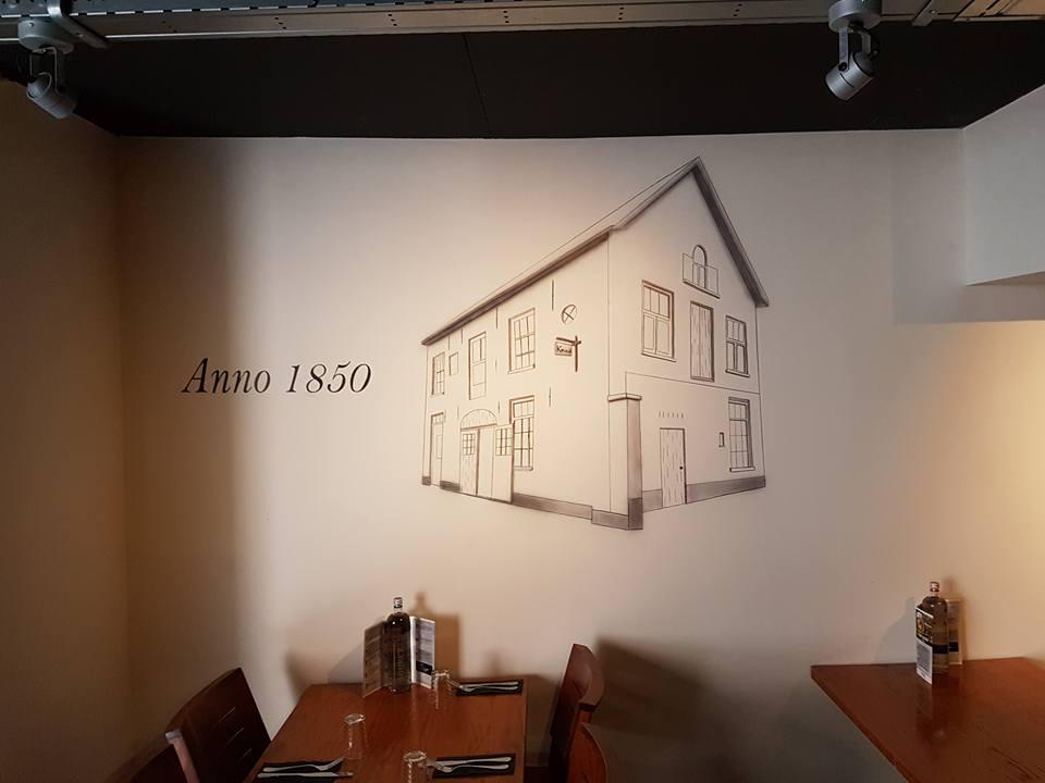 Muurschildering Het Poorthuis