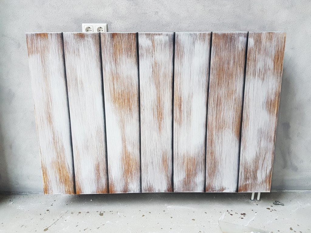 Whitewash imitatie op radiator