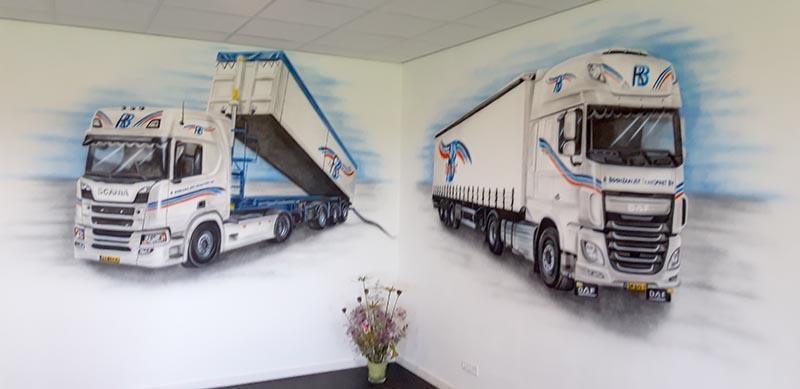 Boonstra Transport BV muurschildering