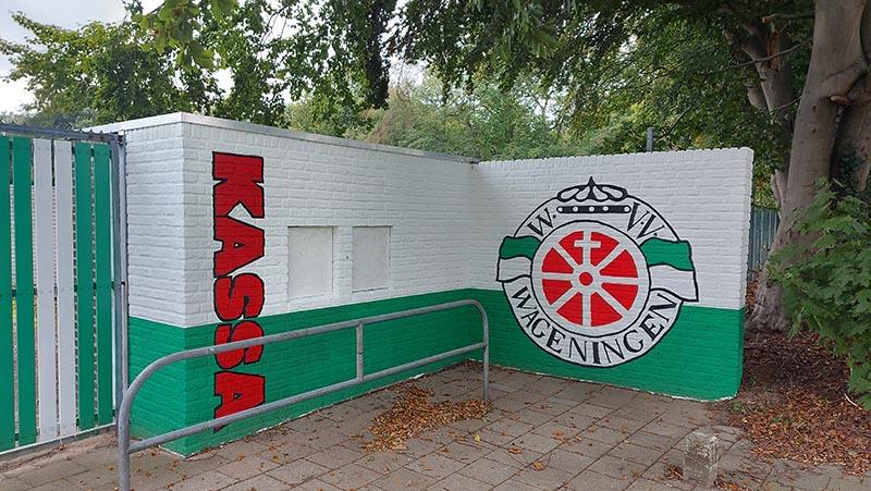 muurschildering vv Wageningen